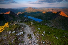Wales Landscape Photography / Snowdon Horseshoe view from the summit...