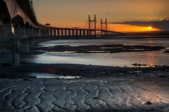 Wales Landscape Photography /Second Severn Crossing Bridge stunning sunset II