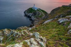 South Stack Lighthouse at Spring sunset