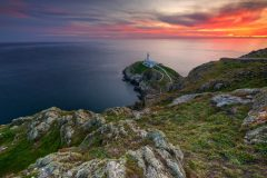 South Stack Lighthouse at Spring sunset II