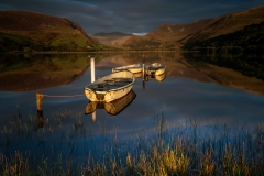 Wales Landscape Photography / Llyn Nantlle Uchaf stunning beauty golden hour autumn sunset