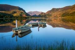 Wales Landscape Photography / Llyn Nantle Uchaf Lake autumn sunset
