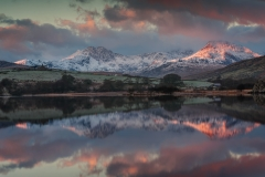Wales Landscape Photography / Snowdon Horseshoe reflected in Llynnau Mymbyr