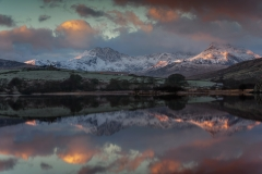 Wales Landscape Photography / Snowdon Horseshoe reflected in Llynnau Mymbyr II