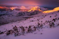 Wales Landscape Photography / Snowdon summit sunrise at Winter 2016