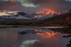 Wales Landscape Photography / Snowdon Horseshoe reflected in Llynnau Mymbyr III