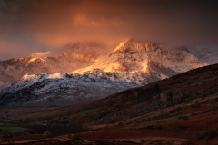 Wales Landscape Photography / Fire at the summit...