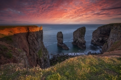 Wales Landscape Photography / The Stack last light Pembrokeshire Coast