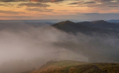 Landscape Photography Worcestershire/ Malvern Hills Worcestershire at misty Autumn sunrise